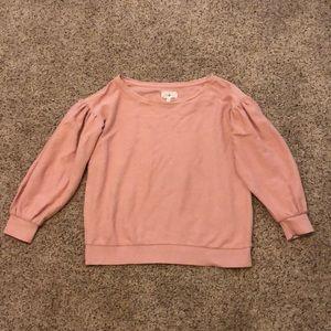 Lou & Grey Puff Sleeve Sweatshirt Top